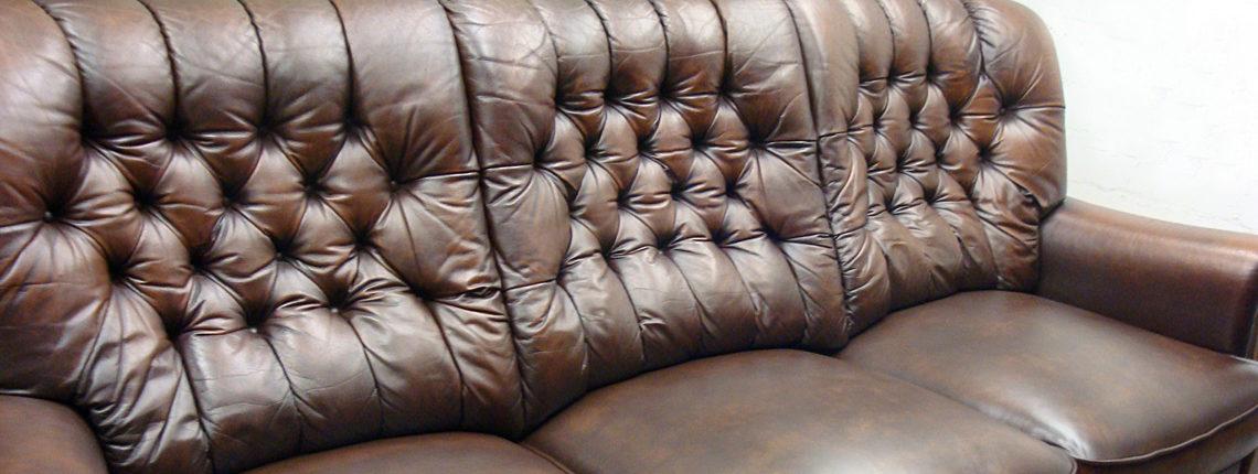 Chesterfield Sofa nach Aufarbeitung